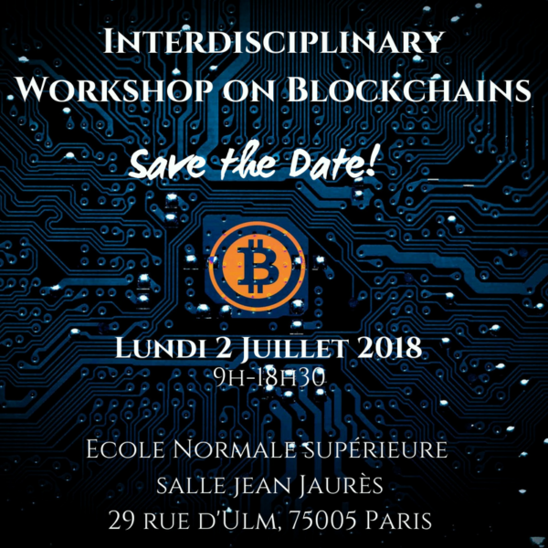 Interdisciplinary Workshop on Blockchains
